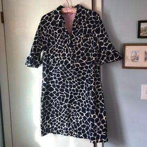 Lilly Pulitzer True Navy Shirt Dress Sz 10